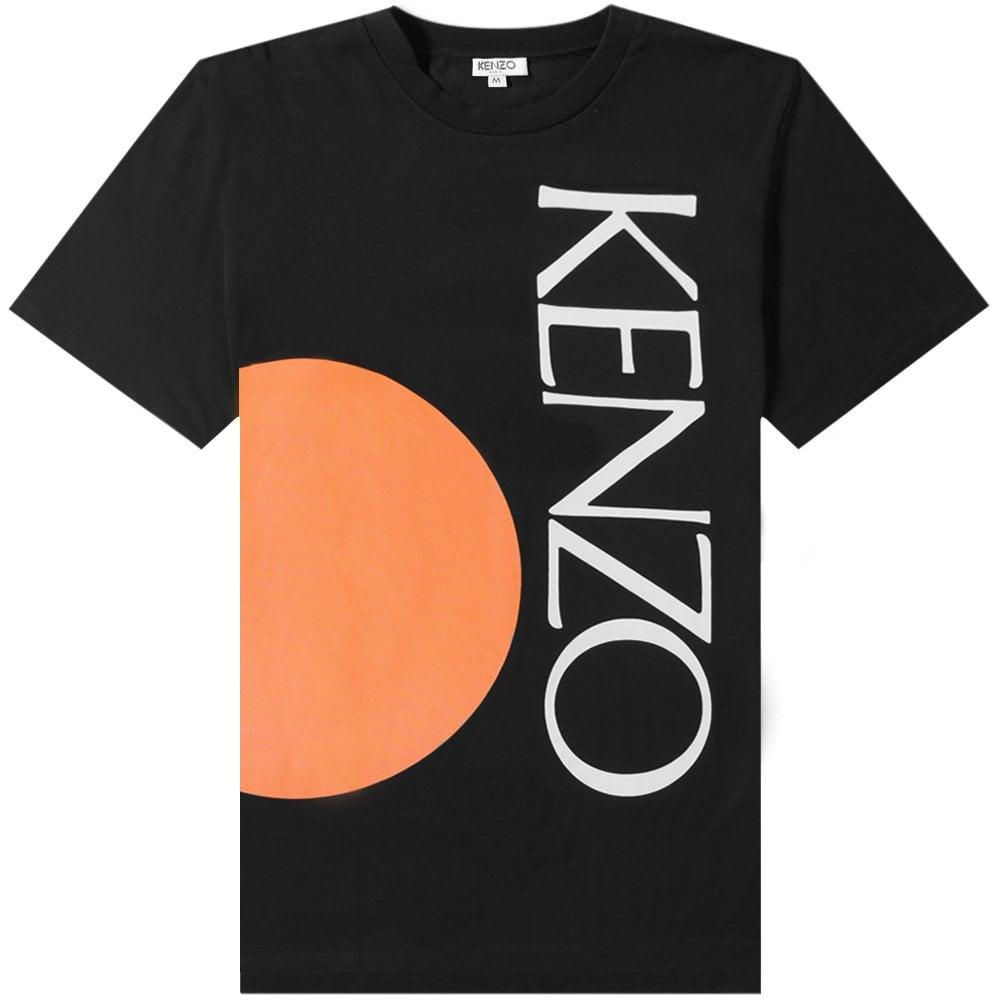 Kenzo Colorblock T-shirt Colour: BLACK, Size: LARGE