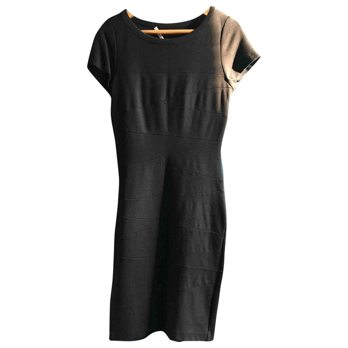Diane Von Furstenberg \N Black Cotton - elasthane dress for Women 38 FR