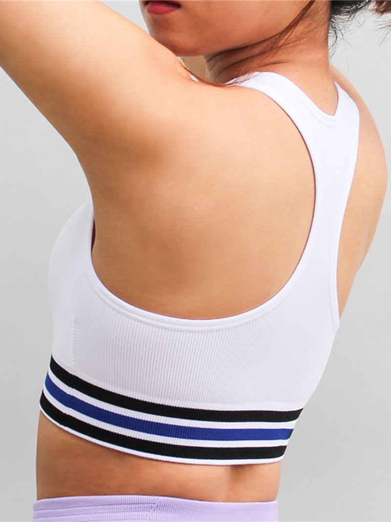 Ericdress Push Up I-Shaped Stripe Thin Free Wire Sports Bras