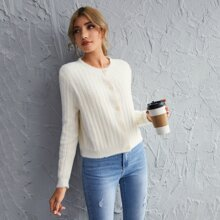 Button Front Solid Cardigan