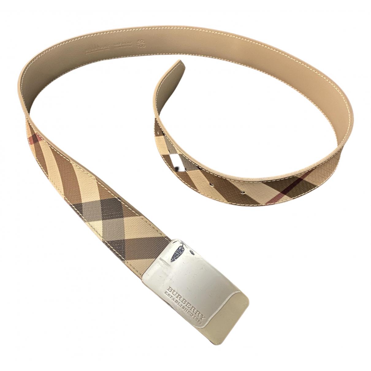 Burberry \N Beige Cloth belt for Women S International