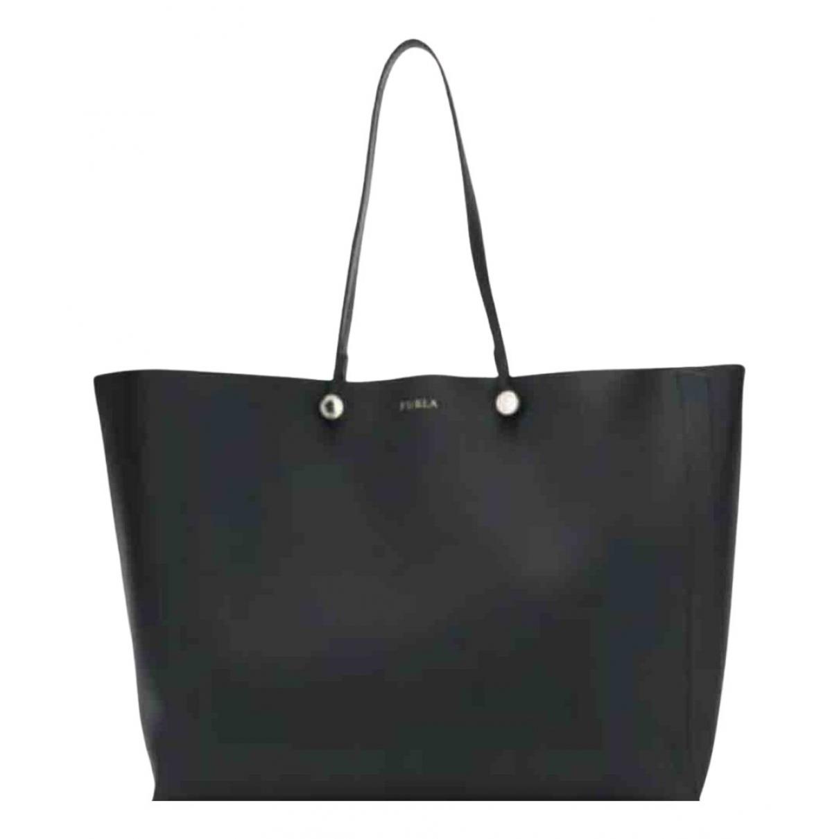 Furla \N Black Leather Clutch bag for Women \N