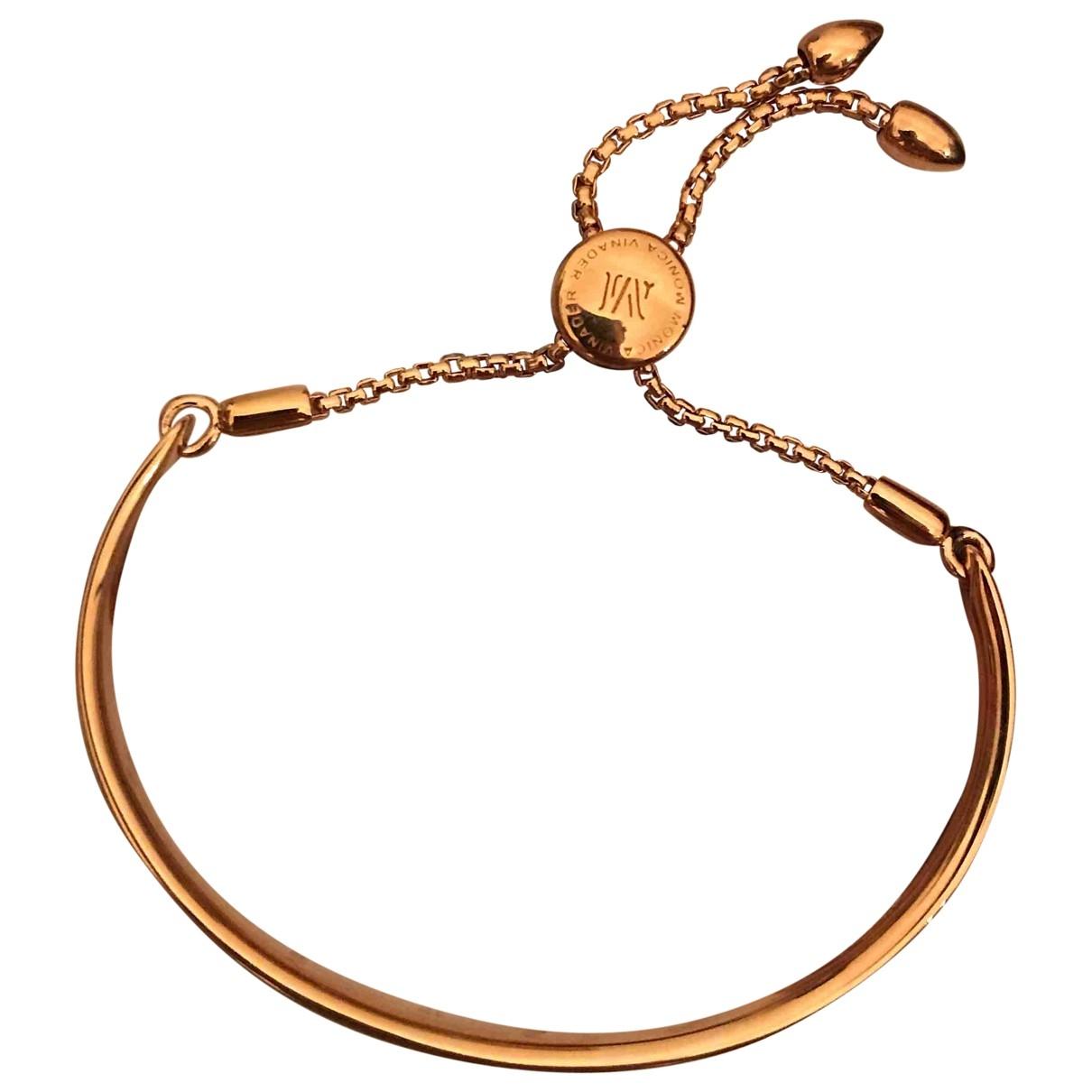 Monica Vinader \N Pink gold bracelet for Women \N