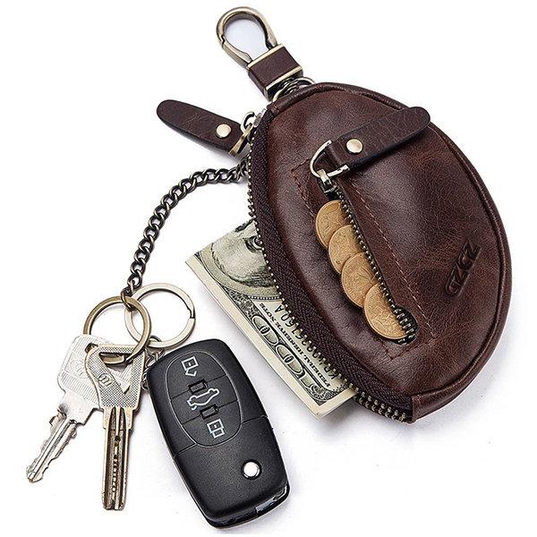 Genuine Leather Car Key Holder Key Bag Keychain Wallet For Men Women