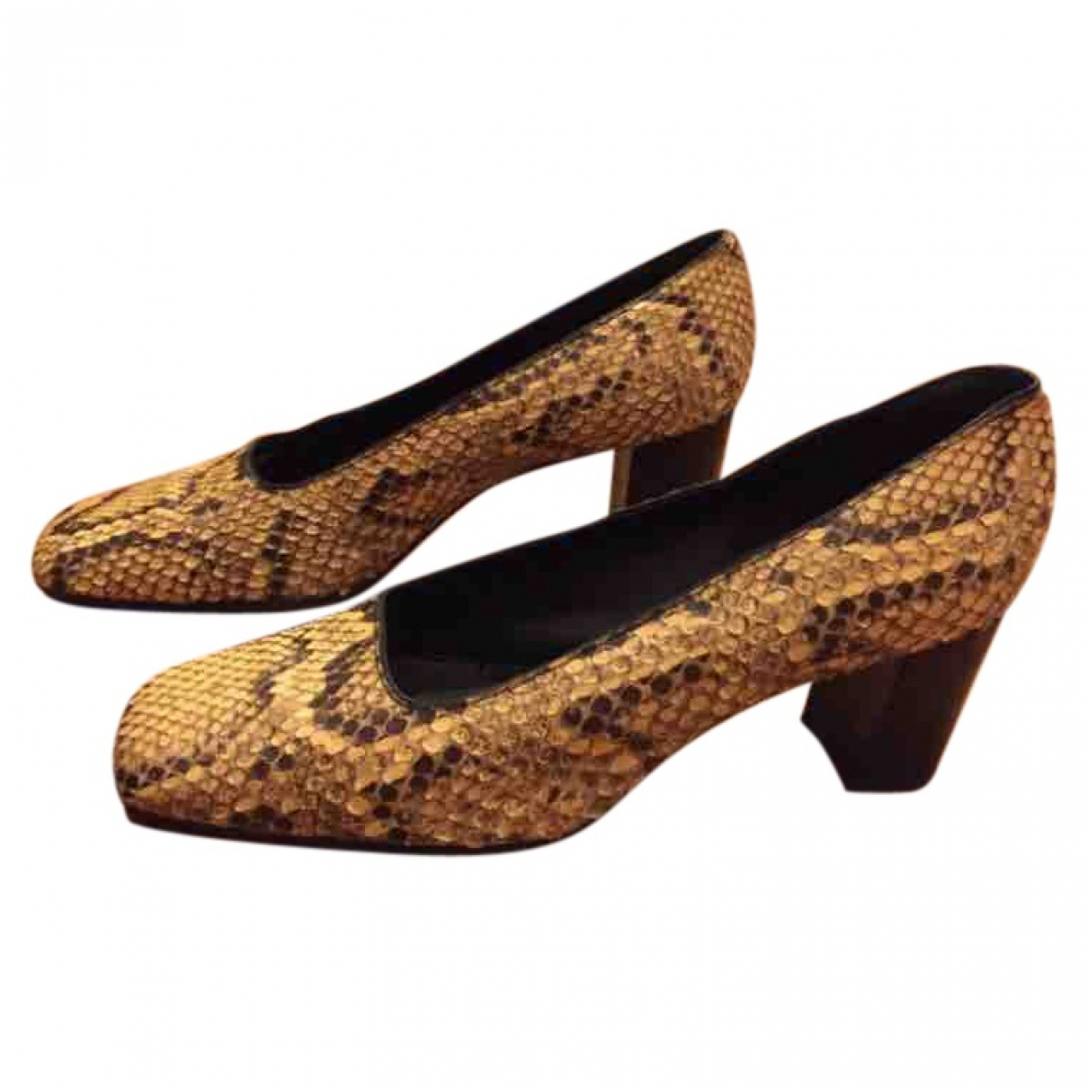 Non Signé / Unsigned \N Python Heels for Women 39 EU