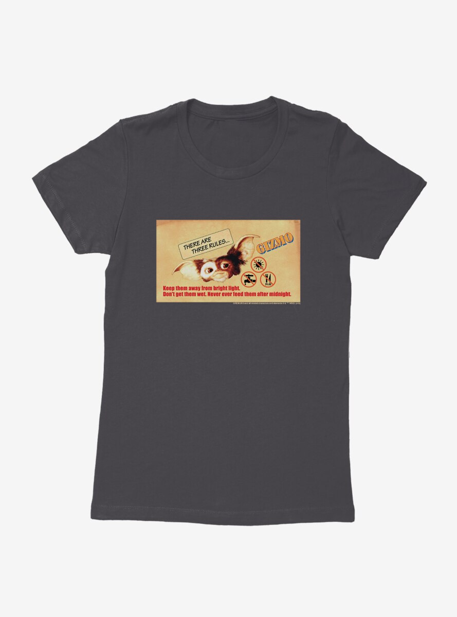 Gremlins Gizmo Three Rules Womens T-Shirt