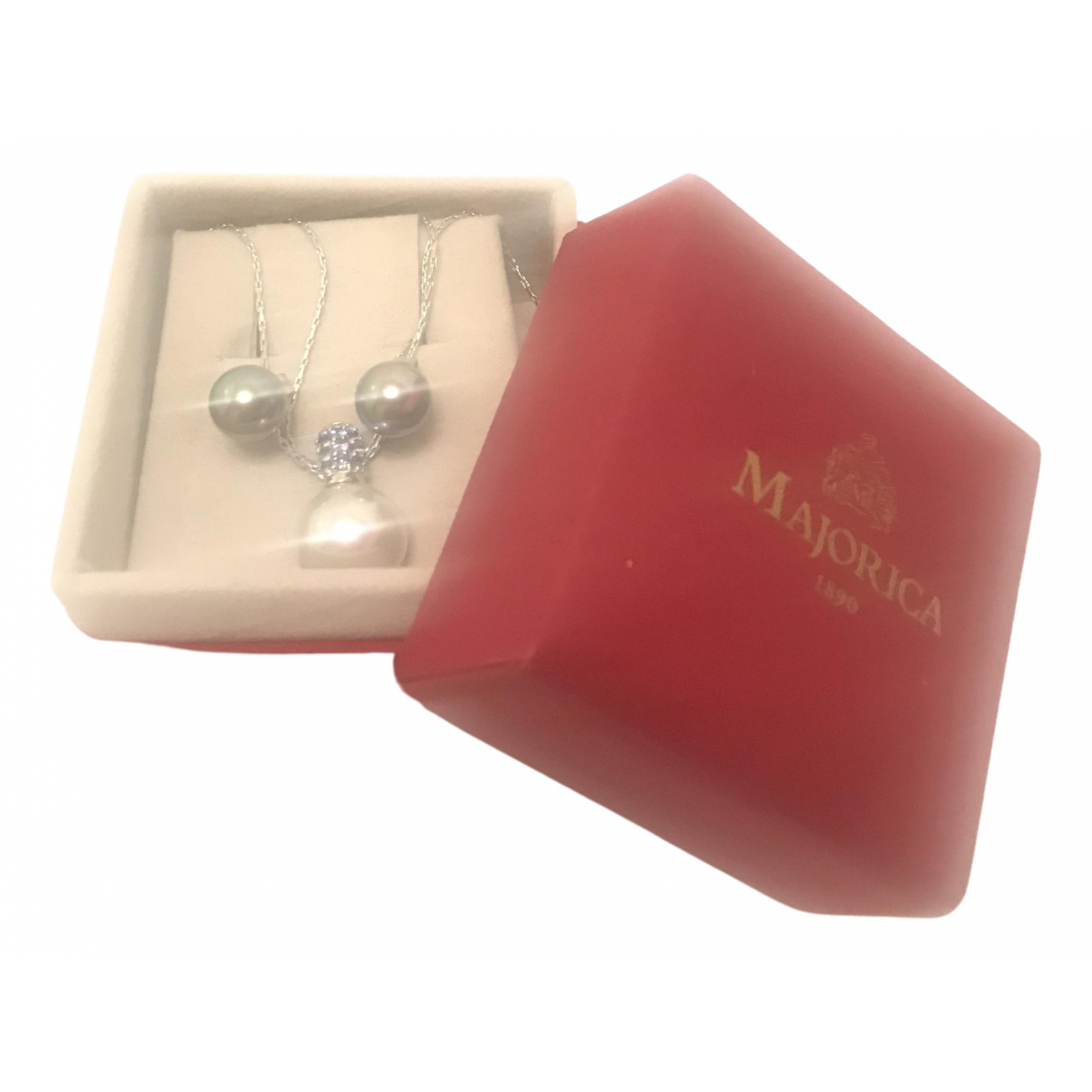 Non Signé / Unsigned \N White Pearl Jewellery set for Women \N
