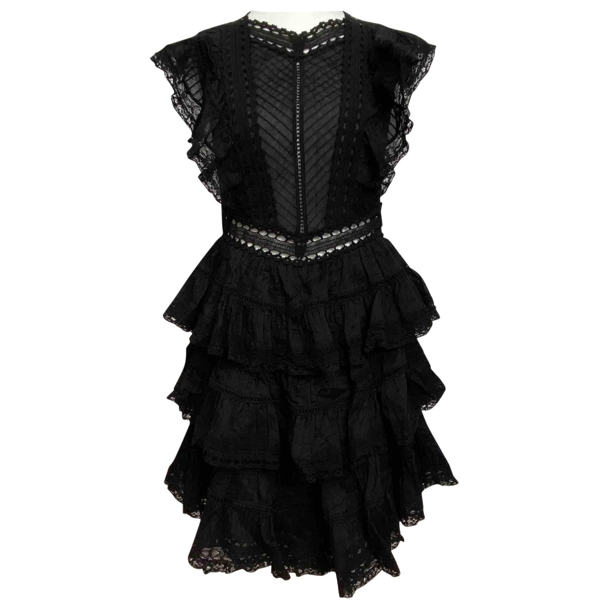 Zimmermann \N Black Cotton dress for Women 0 0-5