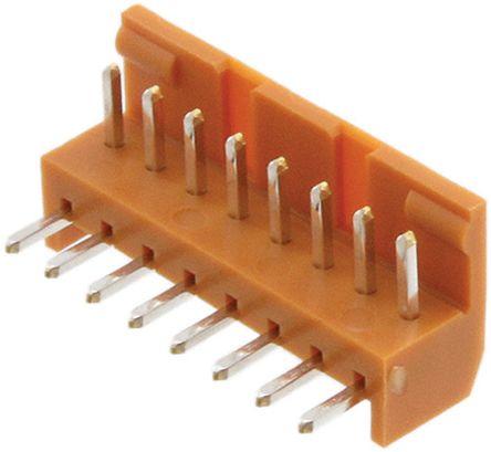 JAE , IL-G, 8 Way, 1 Row, Right Angle PCB Header (10)