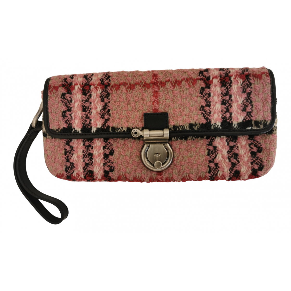 Burberry \N Pink Wool Purses, wallet & cases for Women \N