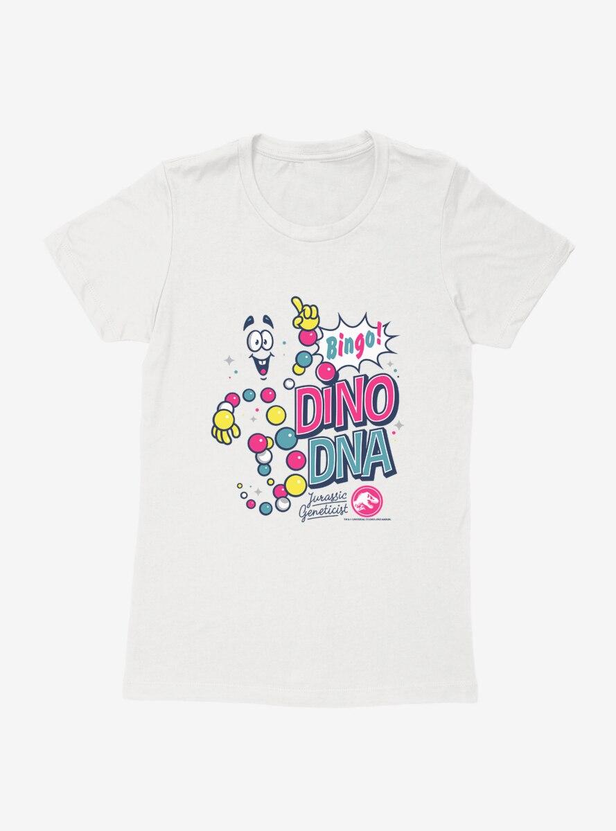 Jurassic World Dino DNA Bingo Womens T-Shirt