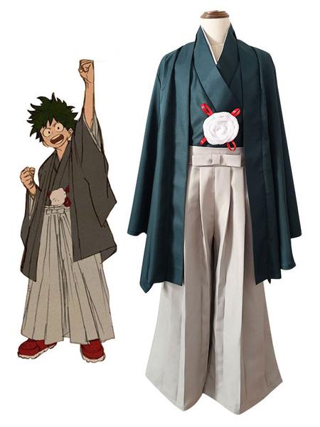 Milanoo BNHA Midoriya Izuku Cosplay My Hero Academia Kimono Cosplay Set
