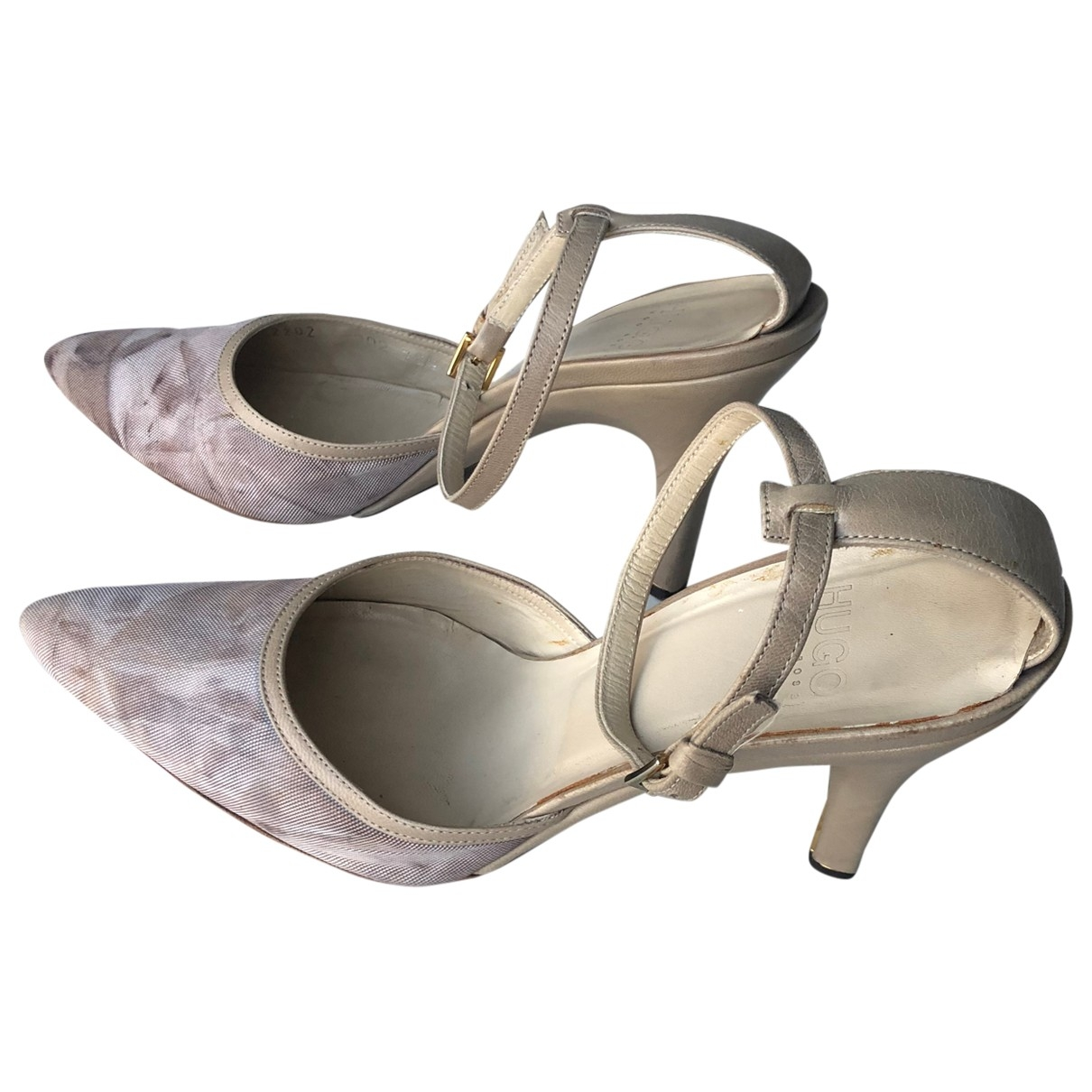 Hugo Boss \N Ecru Leather Heels for Women 38.5 EU