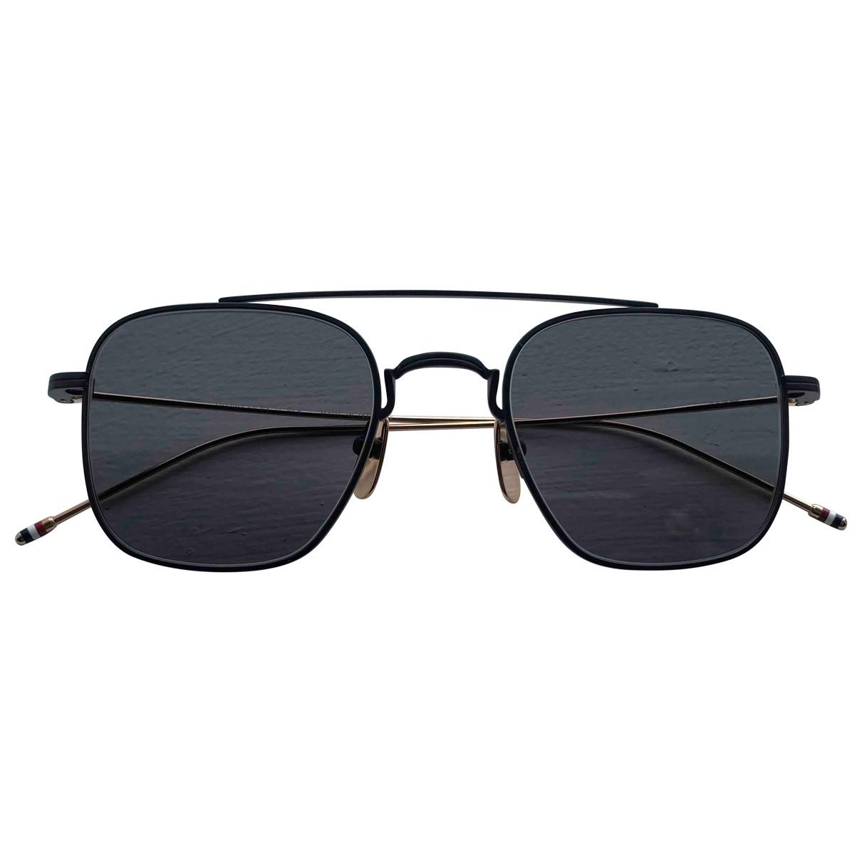 Thom Browne \N Black Metal Sunglasses for Men \N