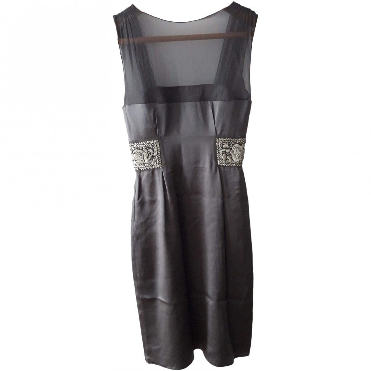 Philosophy Di Alberta Ferretti \N Grey Silk dress for Women 36 FR