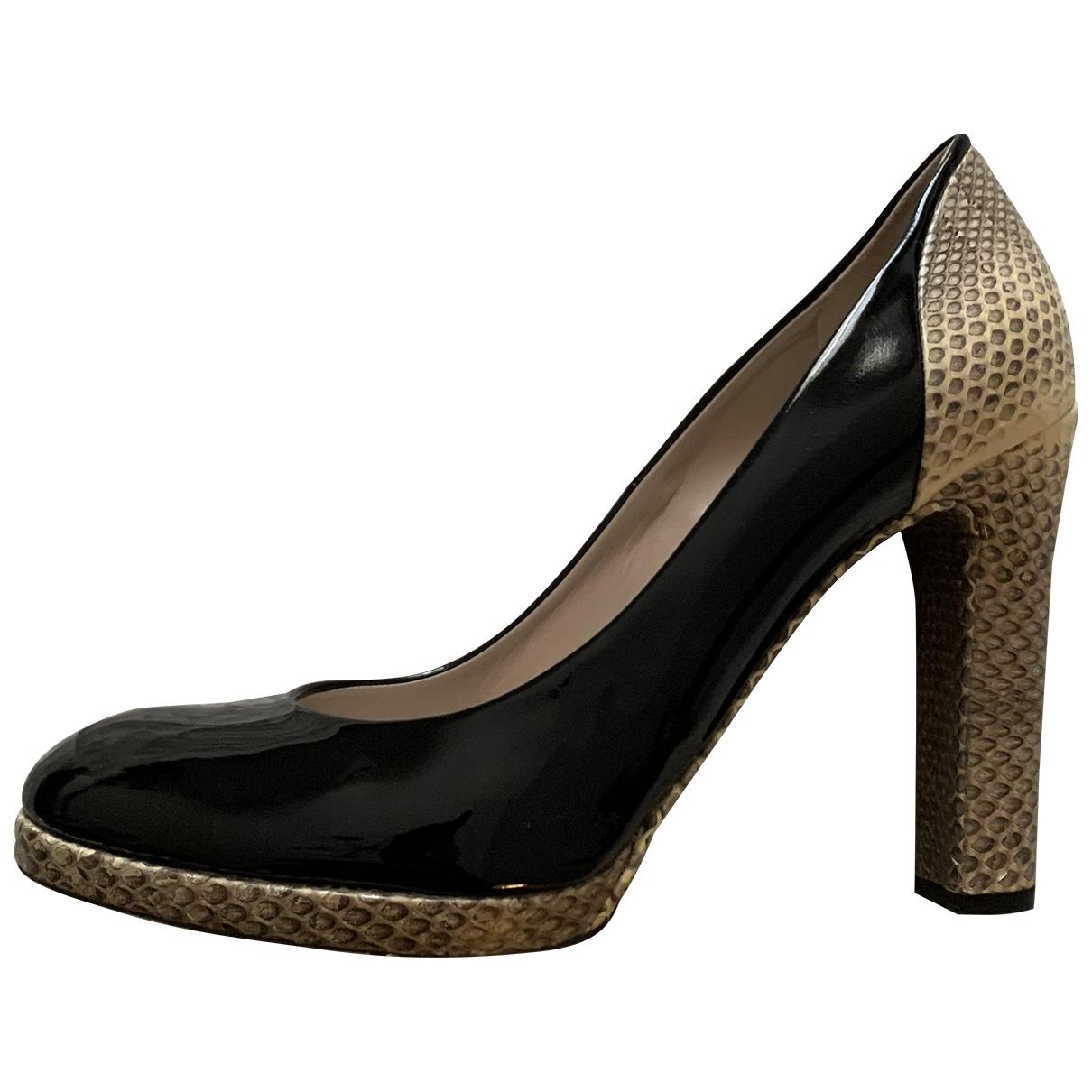 Chloé \N Black Python Heels for Women 39 EU
