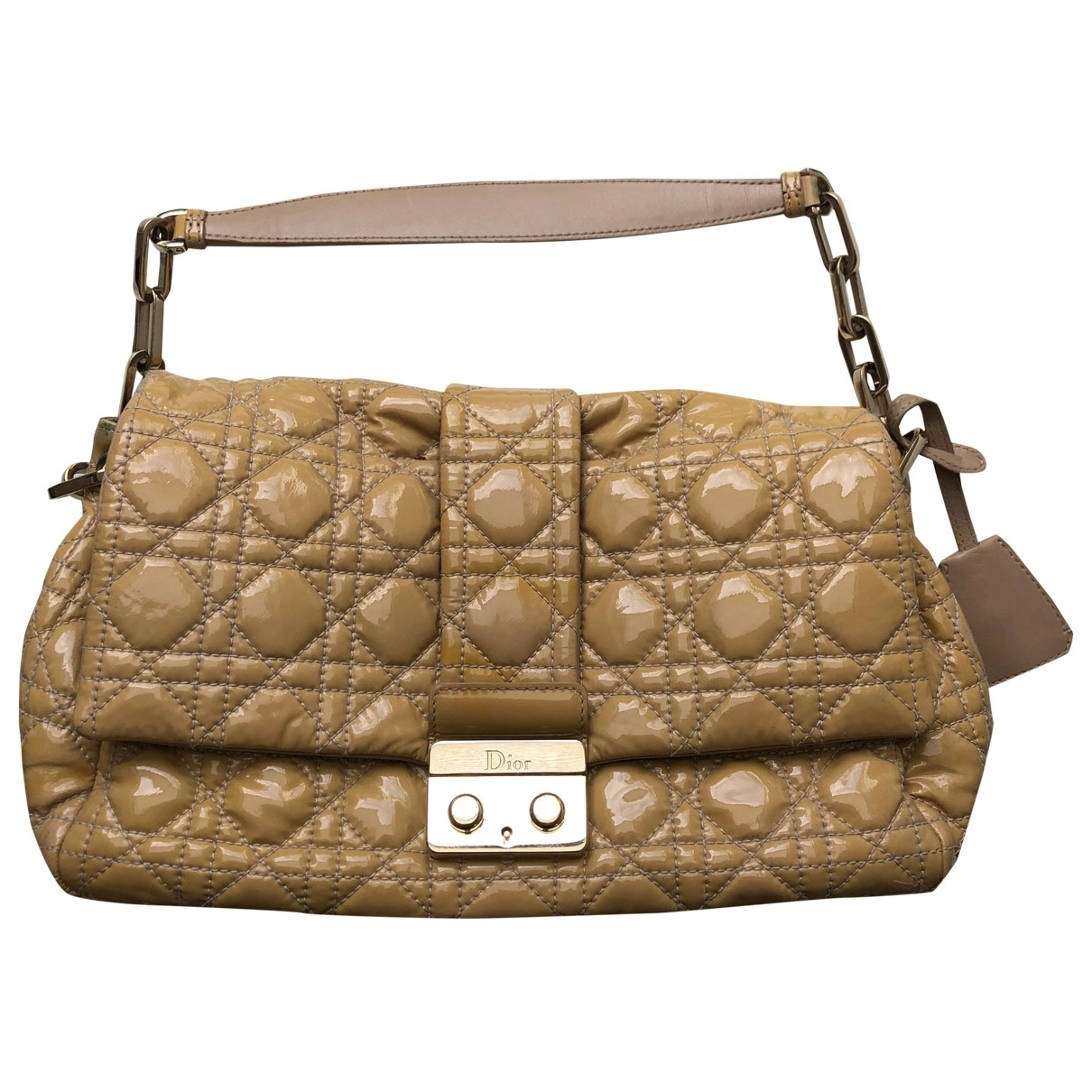 Dior New Lock  Beige Patent leather handbag for Women \N