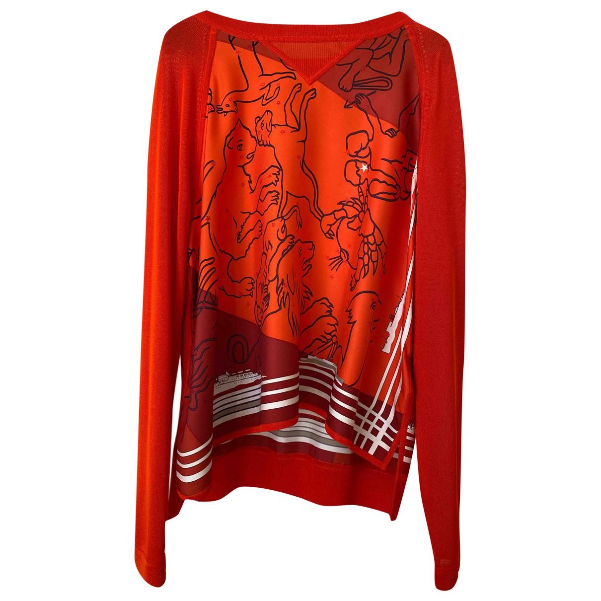 Hermès \N Orange Silk Knitwear for Women 38 FR