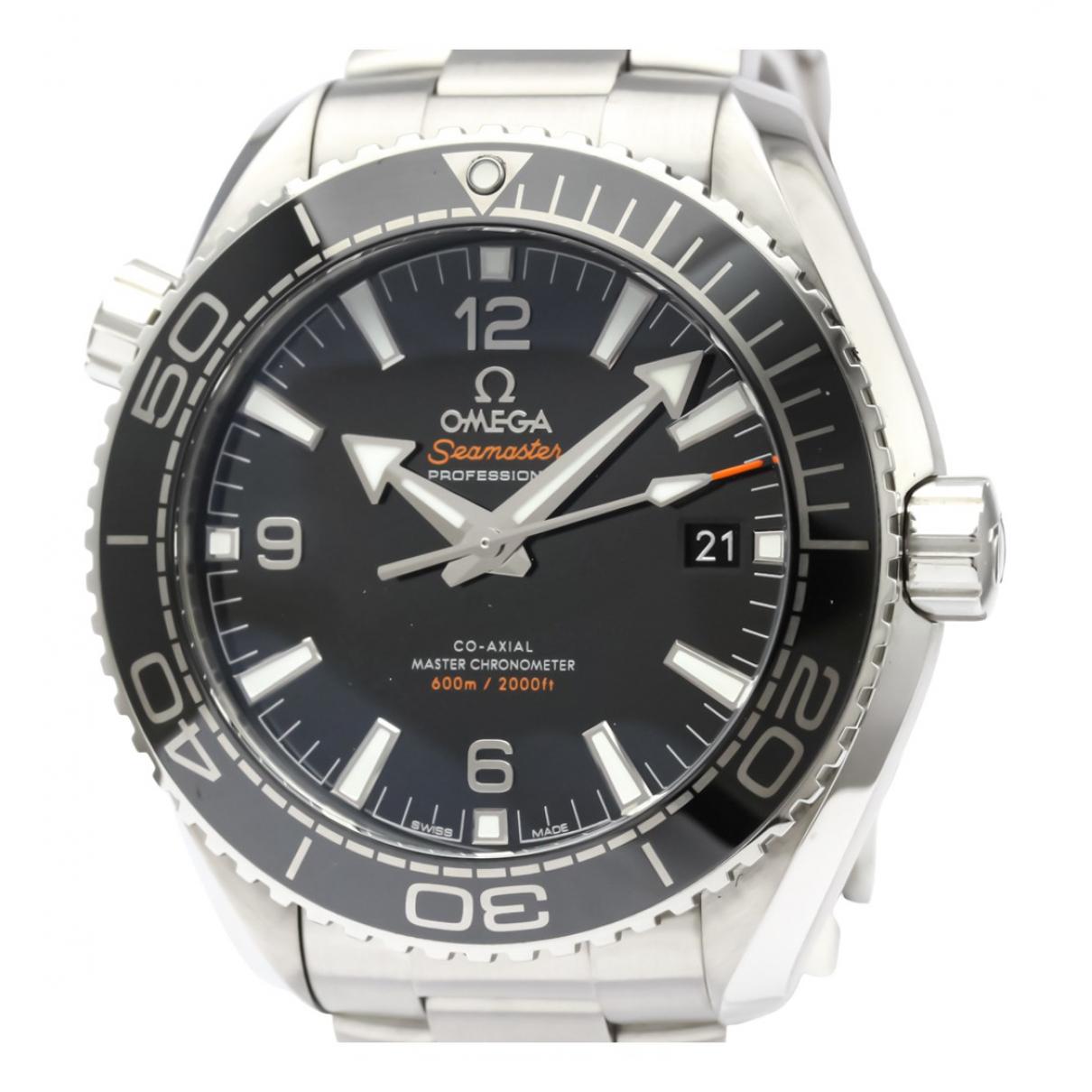 Omega Seamaster Black Steel watch for Men \N