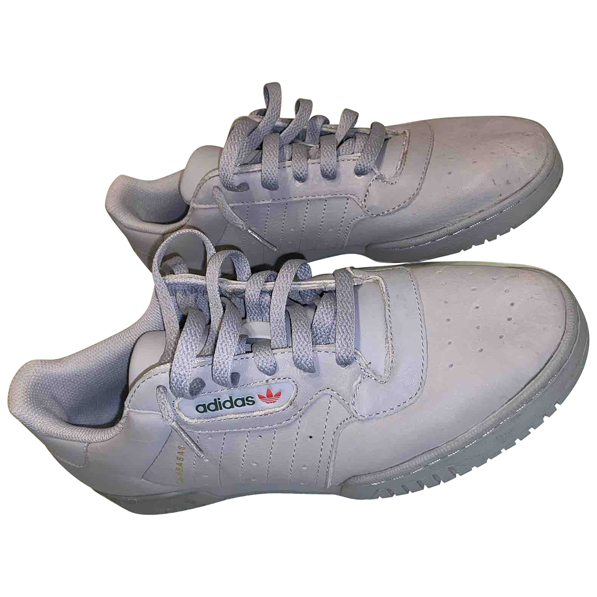 Yeezy X Adidas POWERPHASE Grey Leather Trainers for Men 42.5 EU