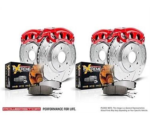 Power Stop KC3166-36 Z36 Extreme Performance Truck & Tow Brake Kit w/Calipers Front & Rear KC3166-36