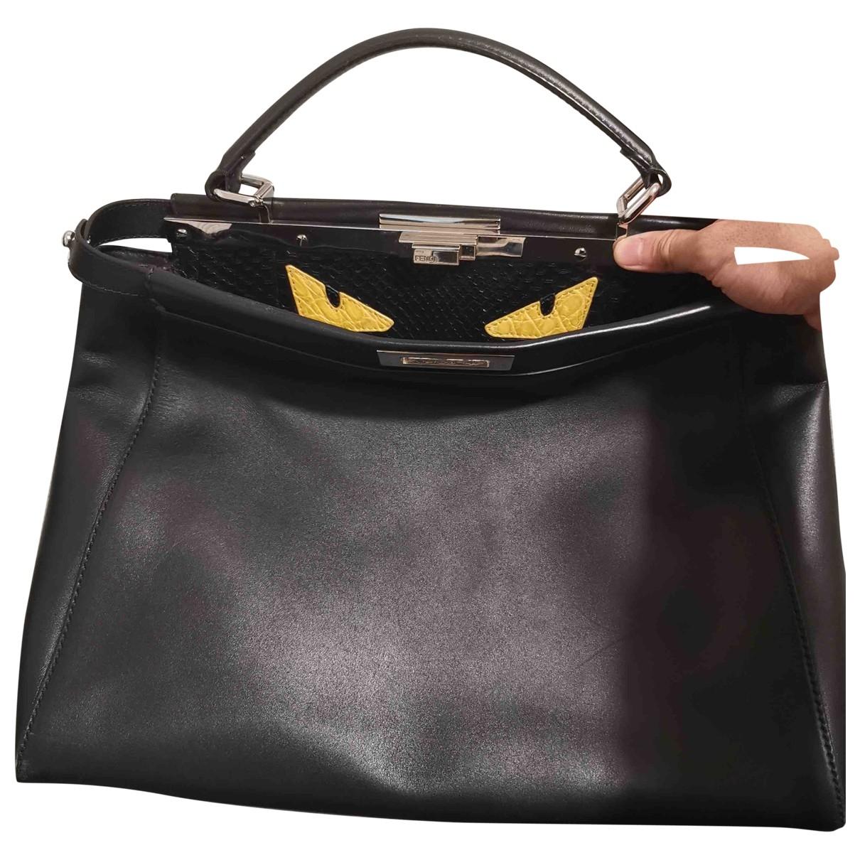 Fendi Peekaboo Black Leather bag for Men \N