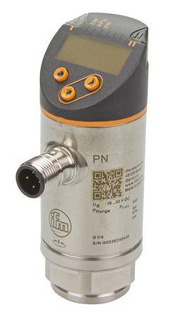 ifm electronic Pressure Sensor for Fluid , 600bar Max Pressure Reading 2x PNP/NPN-NO/NC
