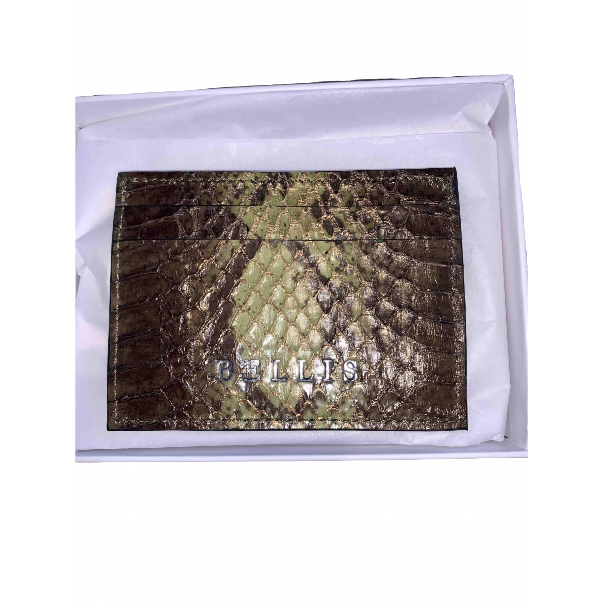 Non Signé / Unsigned \N Brown Water snake Purses, wallet & cases for Women \N