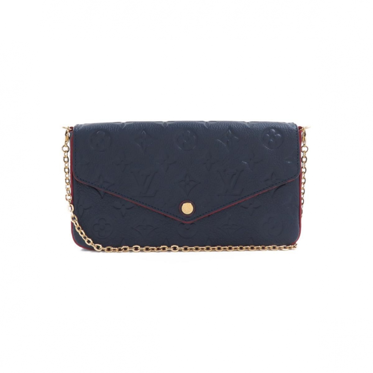 Louis Vuitton Félicie Navy Leather Clutch bag for Women \N