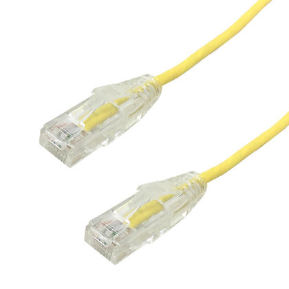 Cat6 UTP Ultra-Thin Patch Cable - Yellow - 10ft