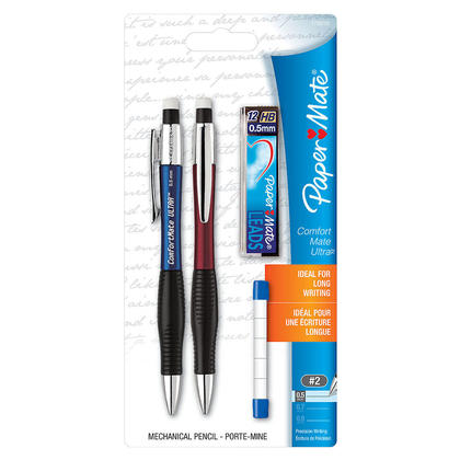 Paper Mate® ComfortMate Ultra™ Mechanical Pencil Starter Set, 0.5mm, 2 / Pack 782821