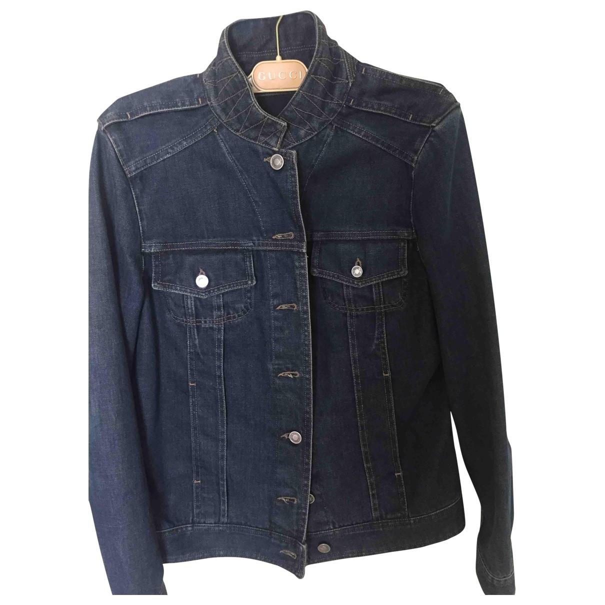 Gucci \N Blue Denim - Jeans jacket for Women 42 IT