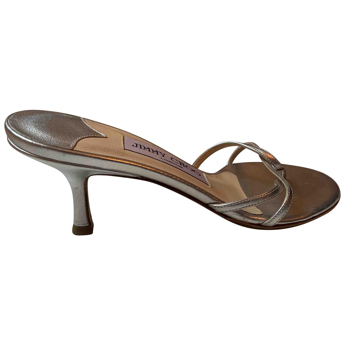 Jimmy Choo \N Silver Leather Sandals for Women 35 IT