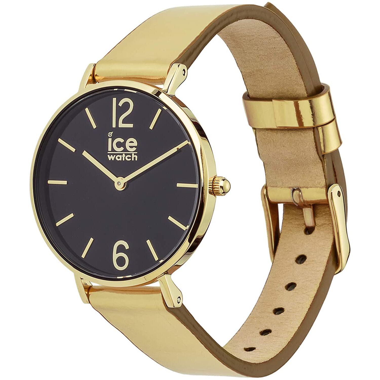Ice-Watch Women's City Sparkling 015084 Gold Leather Quartz Fashion Watch