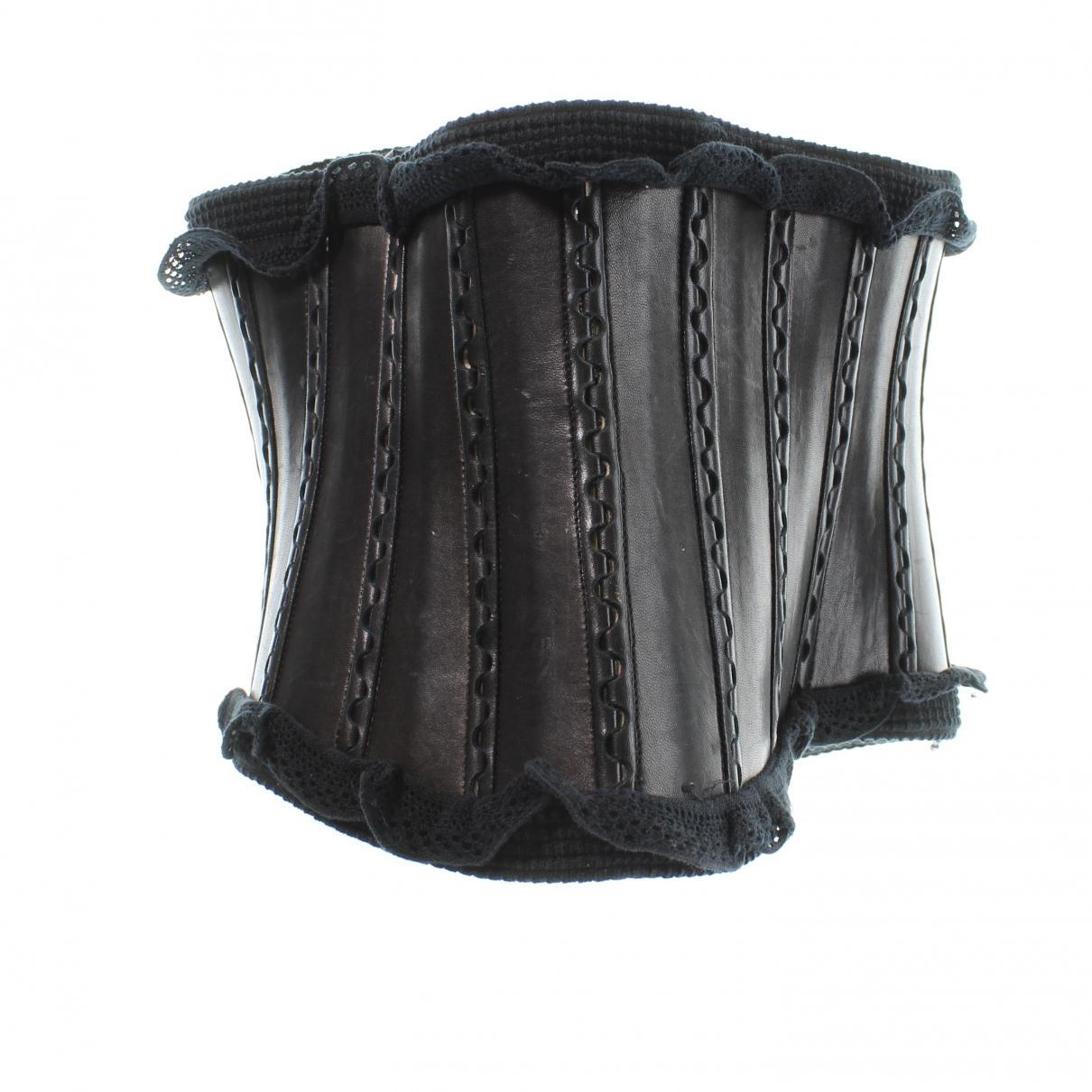 Alaïa \N Black Leather belt for Women 90 cm