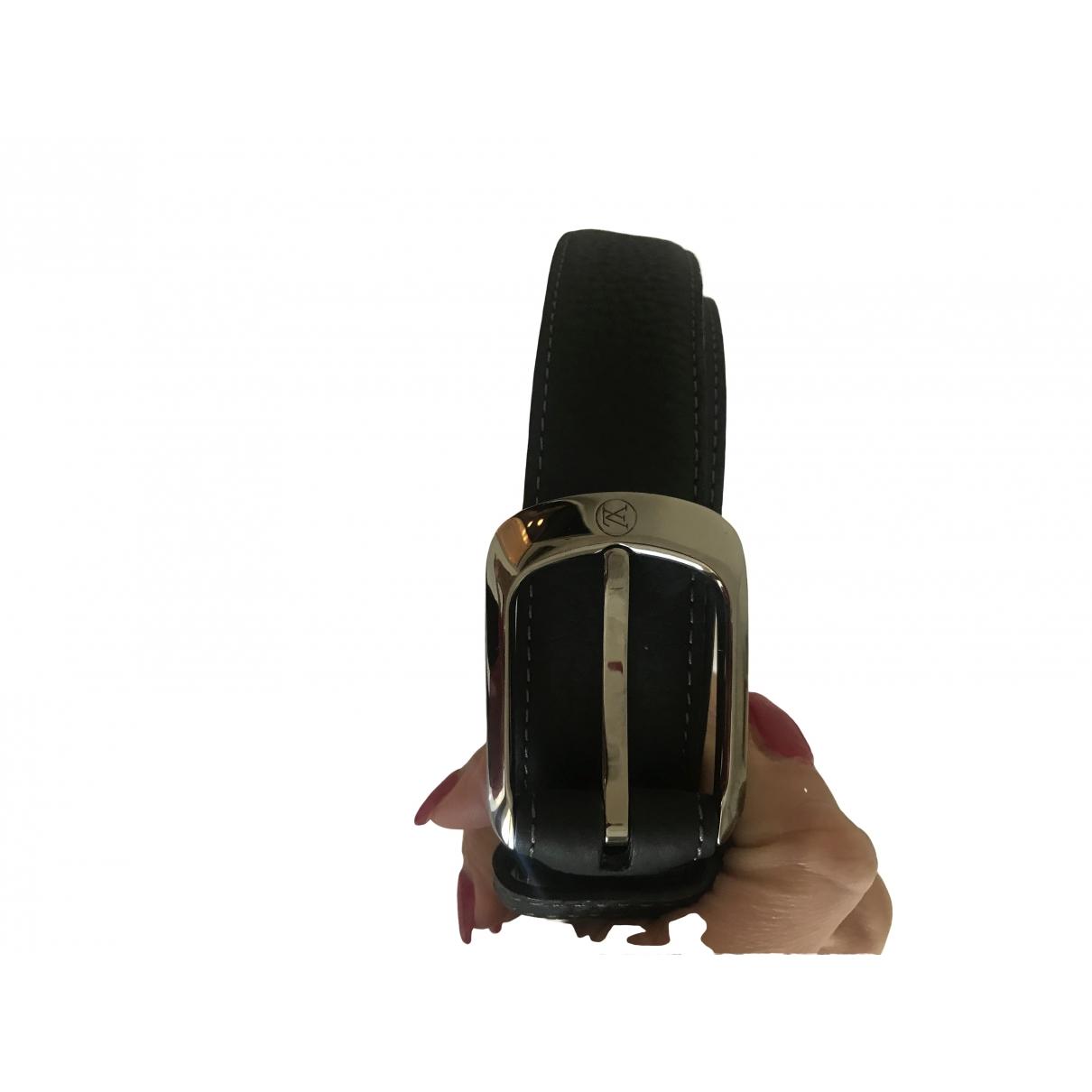 Louis Vuitton \N Blue Leather belt for Men 95 cm
