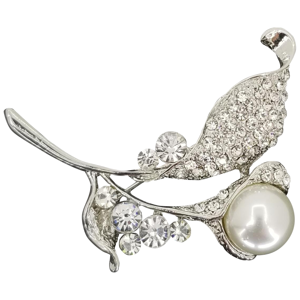 Non Signé / Unsigned Nacre Silver Silver Pins & brooches for Women \N