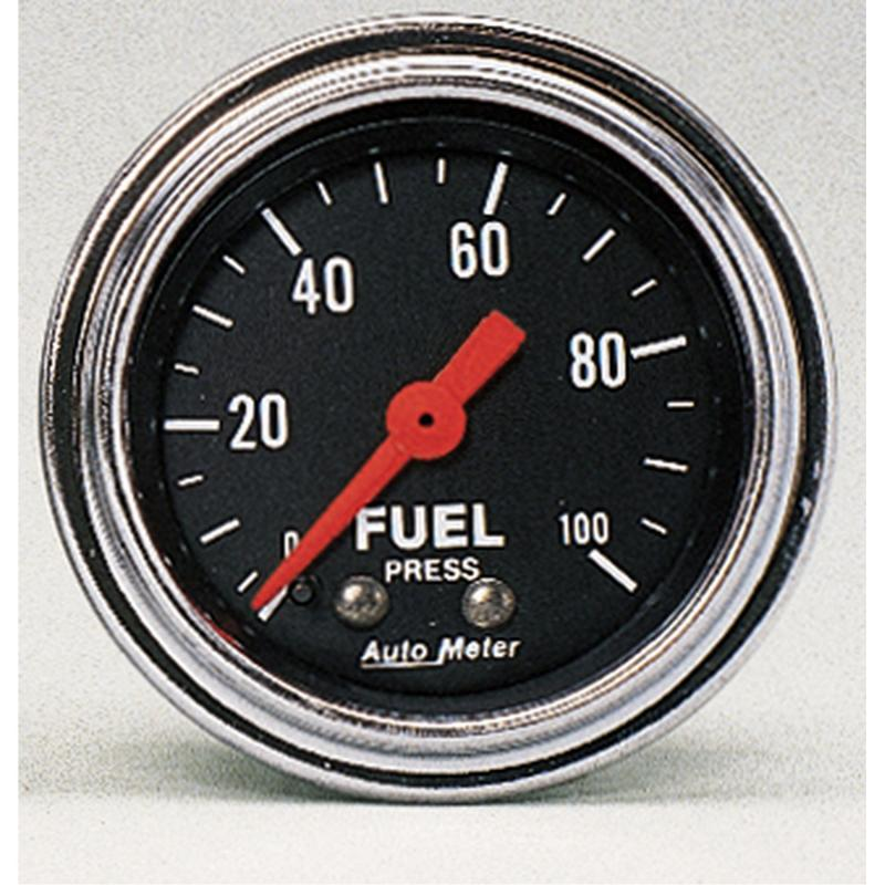 AutoMeter GAUGE; FUEL PRESSURE; 2 1/16in.; 100PSI; MECHANICAL; TRADITIONAL CHROME