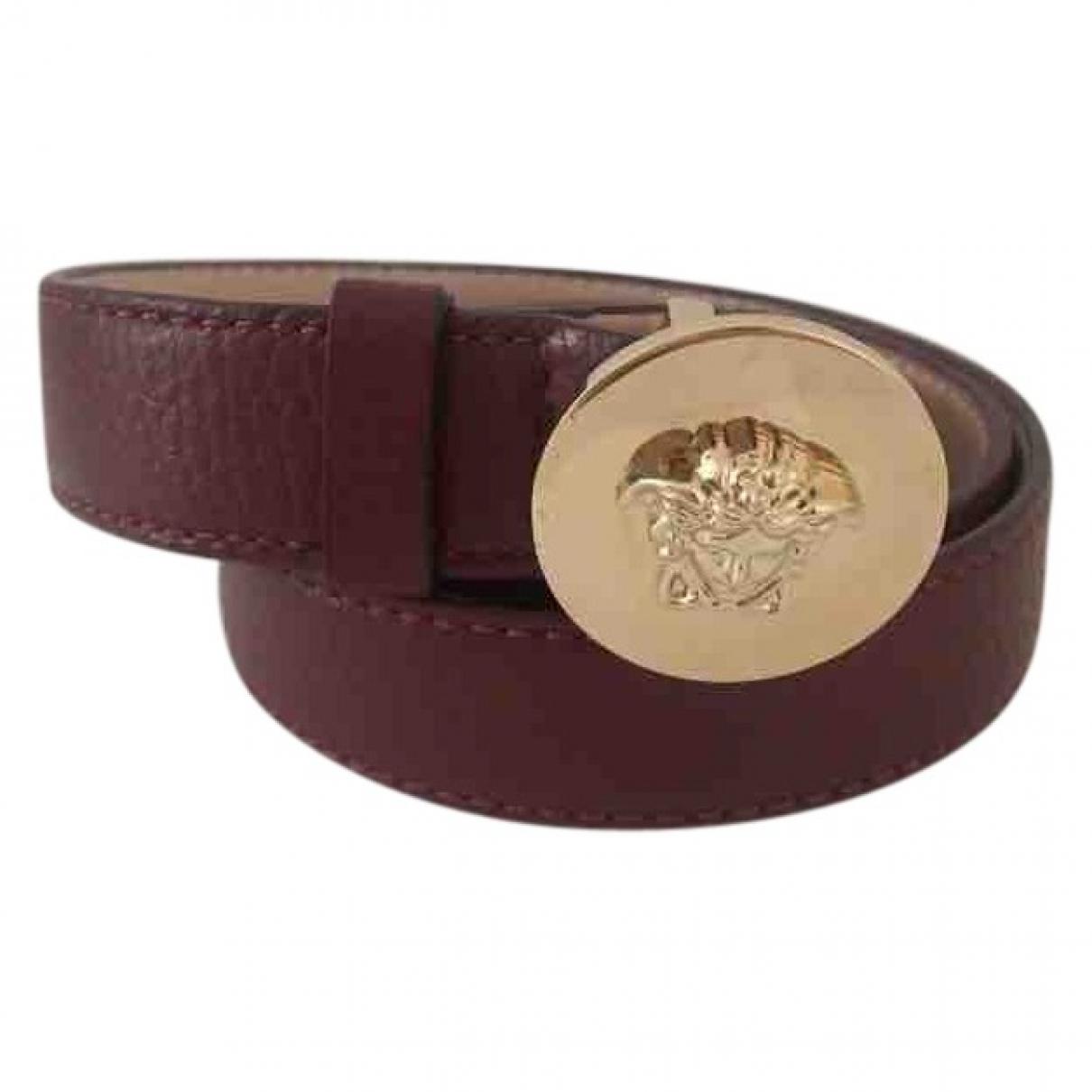 Versace \N Burgundy Leather belt for Women 95 cm