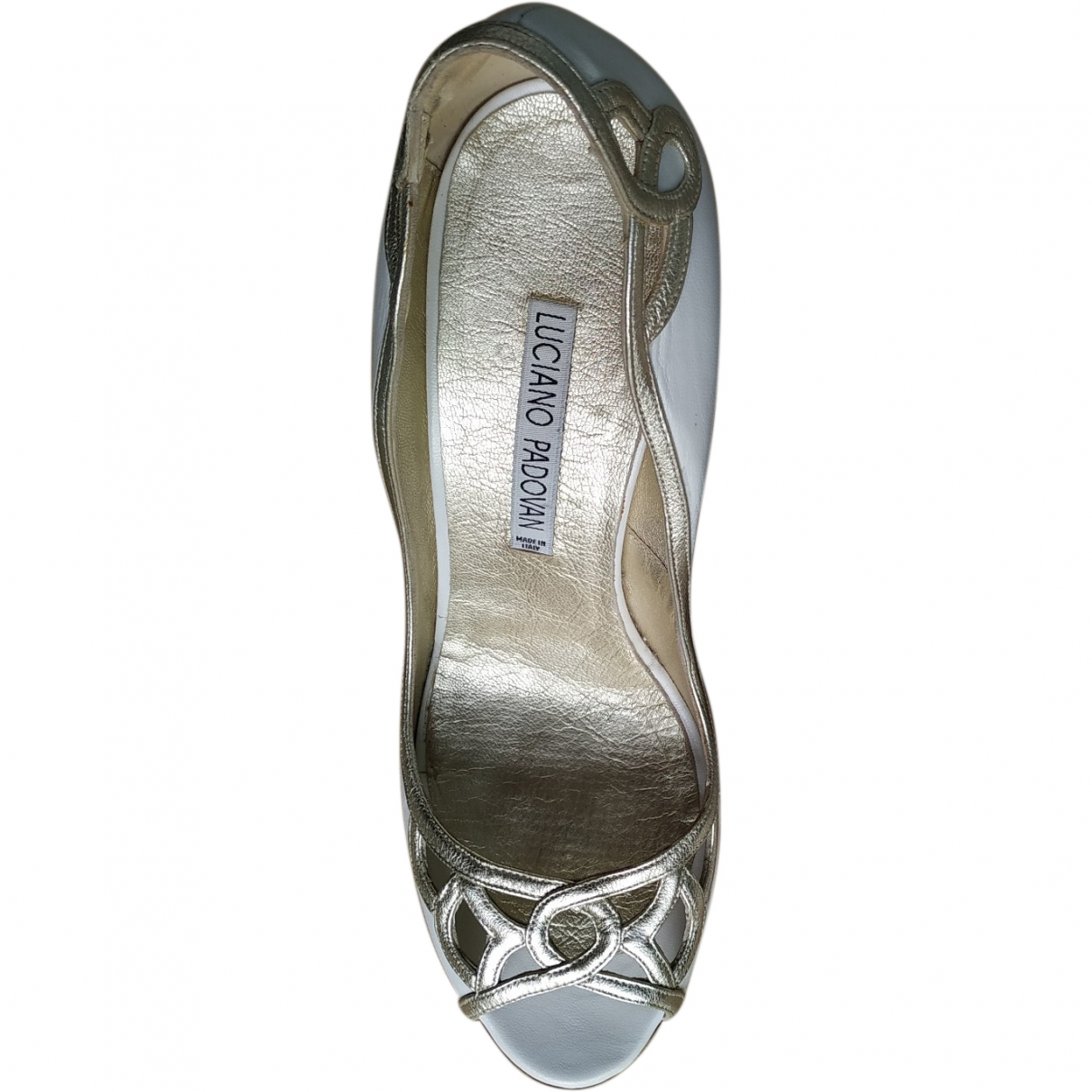 Luciano Padovan \N White Leather Heels for Women 40 EU