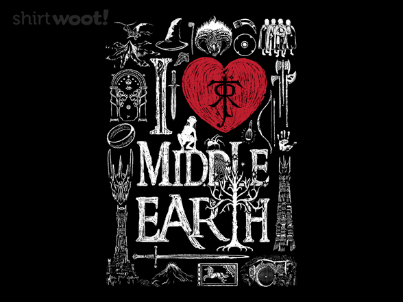 I Love Middle Earth T Shirt