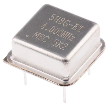 MERCURY , 4MHz Clock Oscillator, ±50ppm HCMOS, TTL, 8-Pin PDIP 5H8ET-4.000