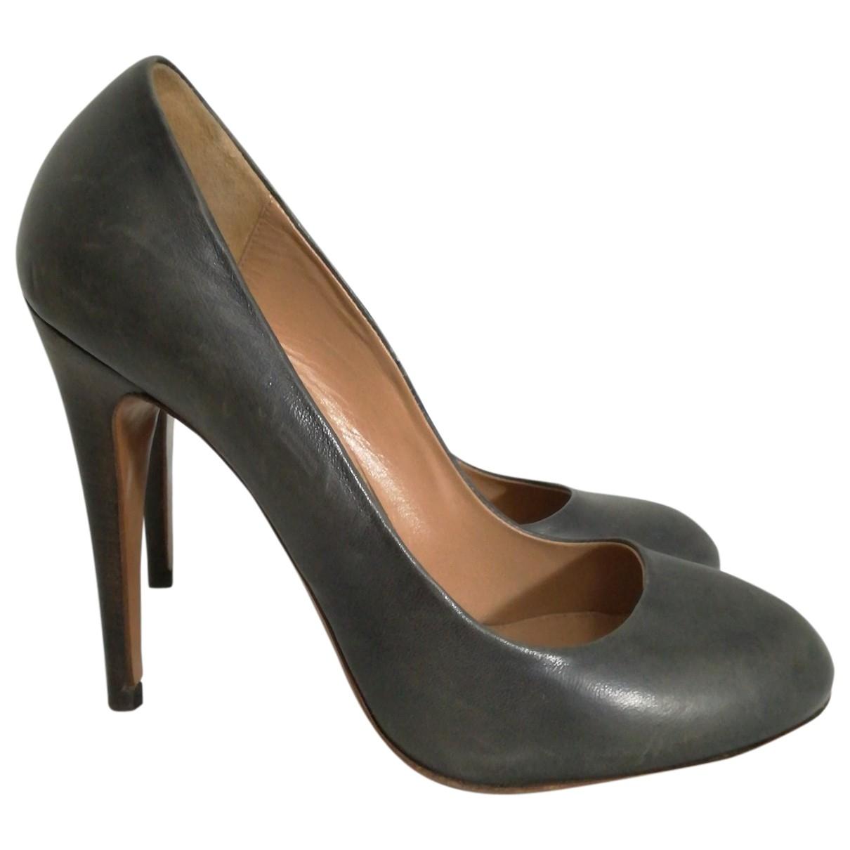 Boss \N Grey Leather Heels for Women 36 EU