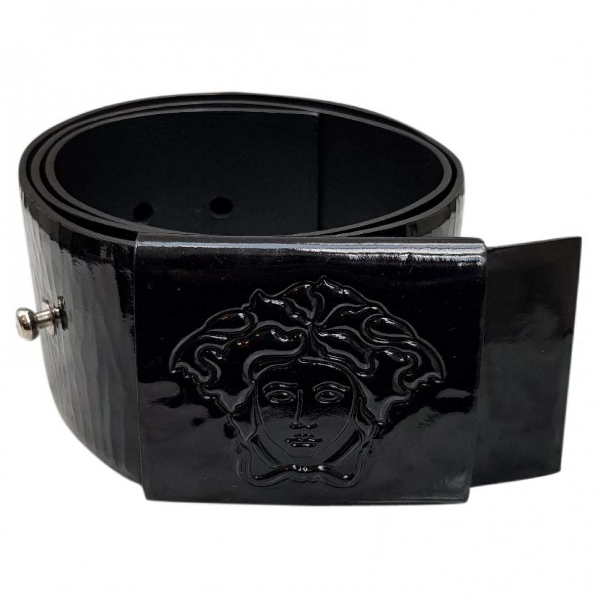 Versace \N Black Patent leather belt for Women 95 cm