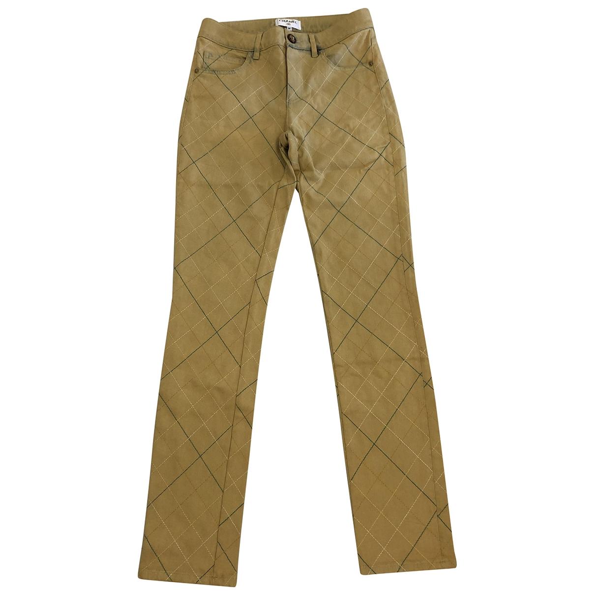 Chanel \N Ecru Denim - Jeans Jeans for Women 36 FR