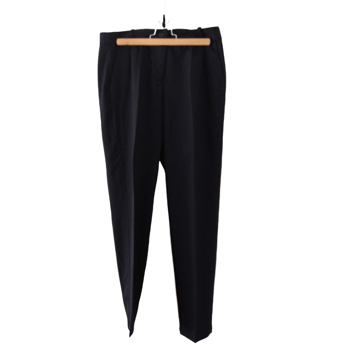 Pablo \N Navy Wool Trousers for Women 40 FR