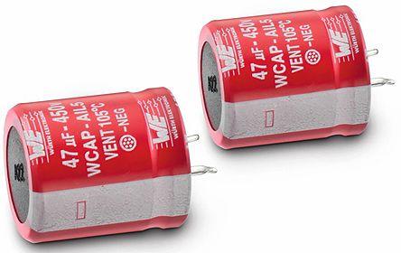 Wurth Elektronik 150μF Electrolytic Capacitor 450V dc, Through Hole - 861111485025 (2)
