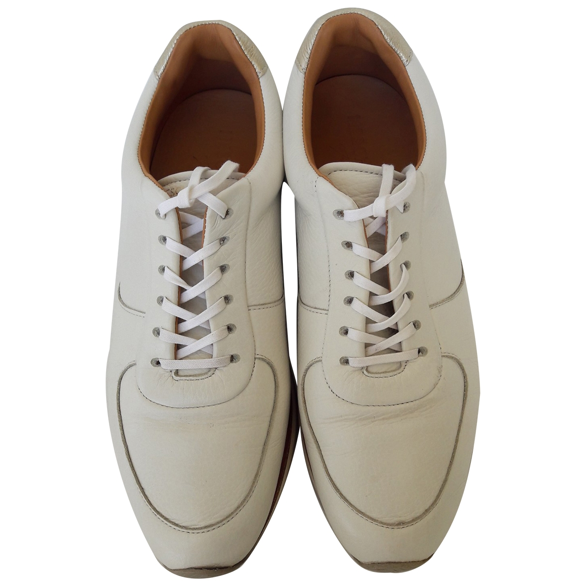 Heschung \N White Leather Trainers for Women 39.5 EU