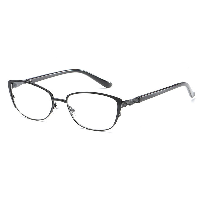 Men Comfortable Pure Color Reading Glasses Square Metal Full-frame Anti-fatigue Reading Glasses