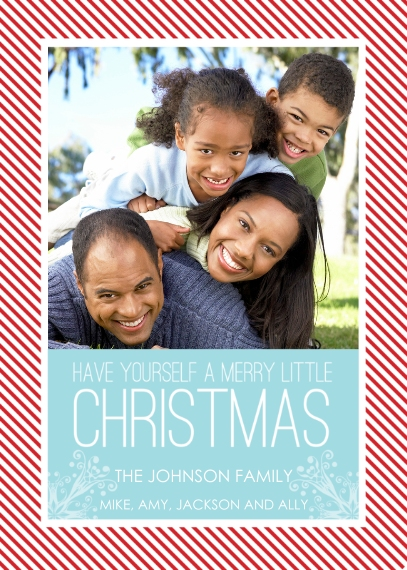 Christmas Photo Cards 5x7 Cards, Premium Cardstock 120lb with Scalloped Corners, Card & Stationery -Have Yourself a Merry Little Christmas